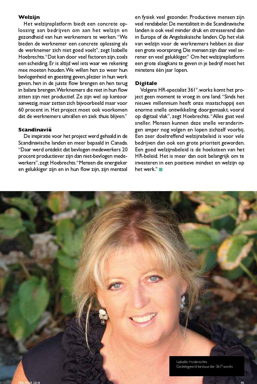 Article CXO Magazine Isabelle Hoebrechts